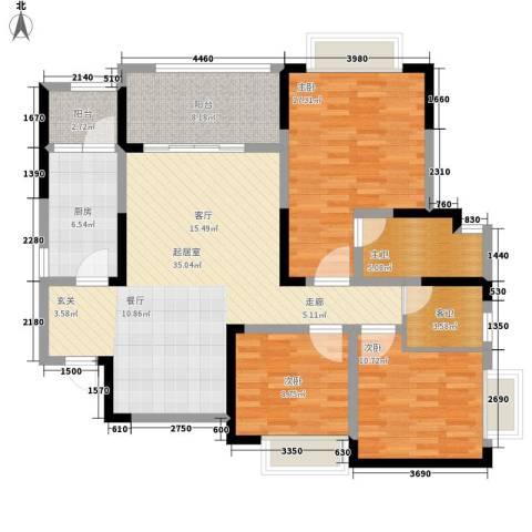 恒春凤凰城3室0厅0卫1厨141.00㎡户型图