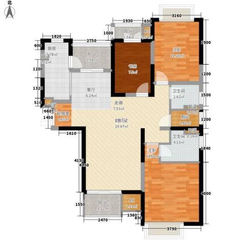 和风雅致3室0厅2卫1厨141.00㎡户型图