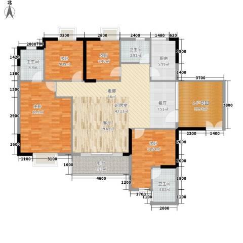 狮子洋1号4室0厅3卫1厨155.00㎡户型图