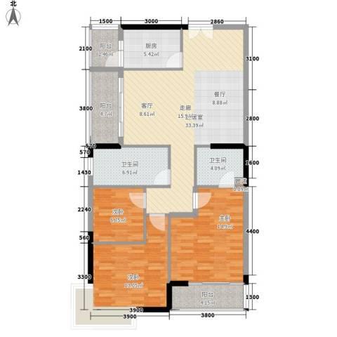 狮子洋1号3室0厅2卫1厨117.00㎡户型图