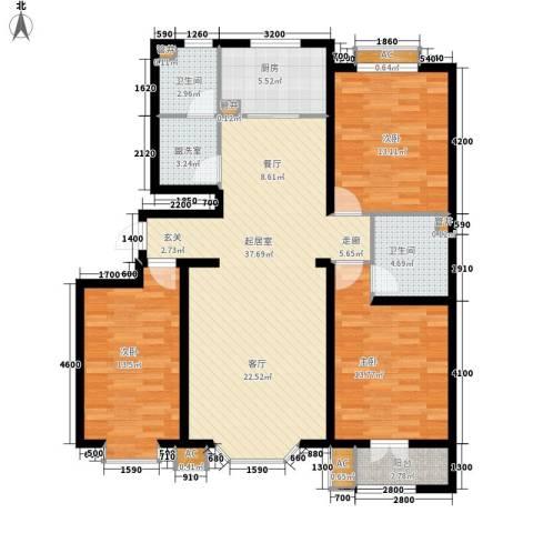 香榭里3室0厅2卫1厨148.00㎡户型图