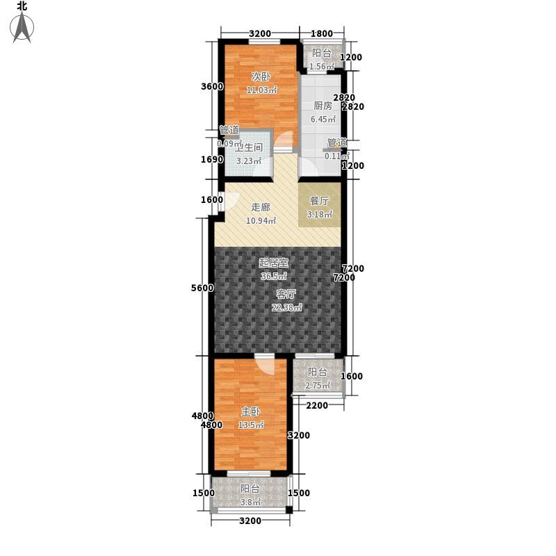 上东三角洲108.70㎡8号楼FF反面积10870m户型