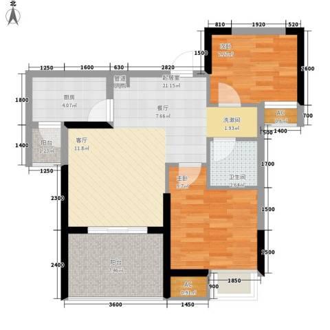 绿云国际纺织服装城2室0厅1卫1厨73.00㎡户型图