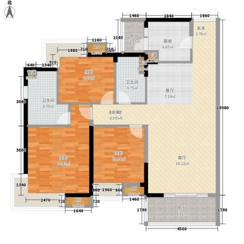绿雅园3室0厅2卫1厨125.00㎡户型图