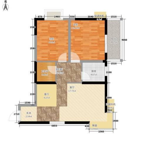 圣都大厦2室1厅1卫1厨81.53㎡户型图