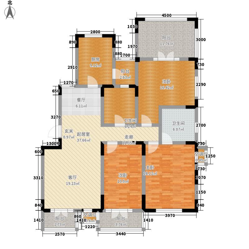 俊城橡树原16号楼n23-1户户型