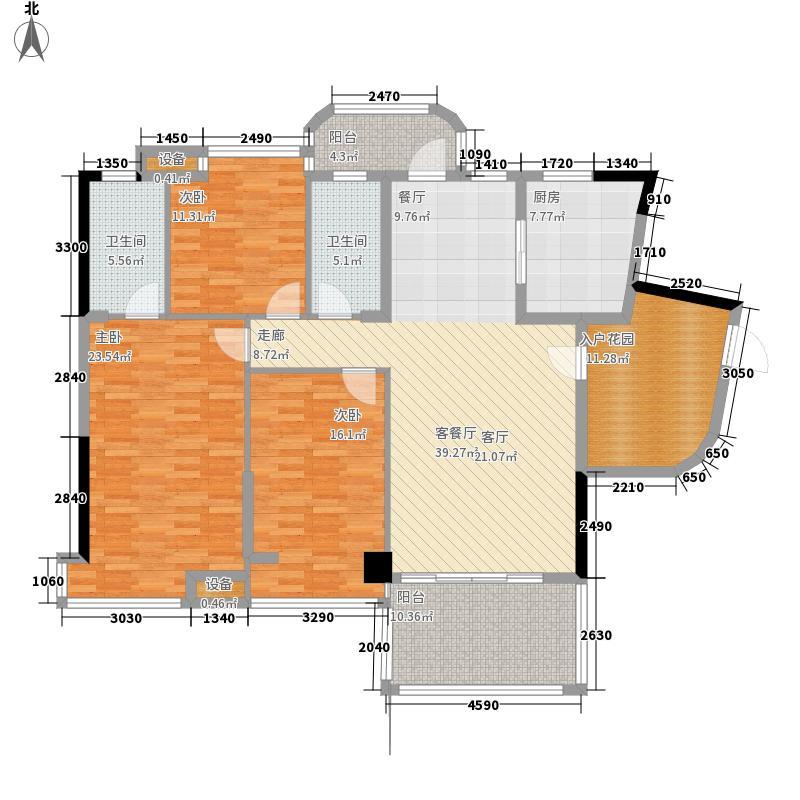 景源公园一号152.43㎡一号楼2单元B3室户型
