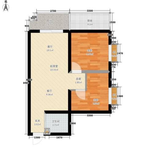 省工商局家属院2室0厅1卫1厨76.00㎡户型图