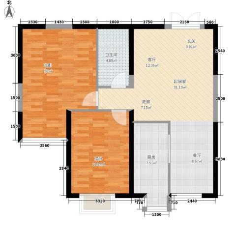 尚品花都2室0厅1卫1厨102.00㎡户型图