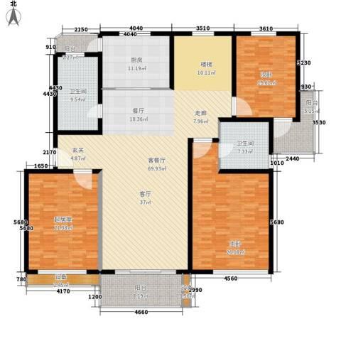 独墅苑2室1厅2卫1厨200.00㎡户型图