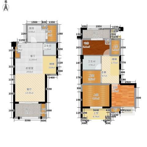泰禾红树林2室0厅2卫1厨105.00㎡户型图