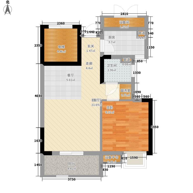 锦绣天伦花园14座1梯02单位户型1室2厅