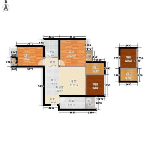 美洲花园E区2期4室0厅1卫1厨81.00㎡户型图