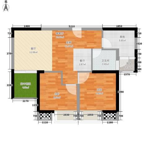 新港国际花园2室1厅1卫1厨79.00㎡户型图