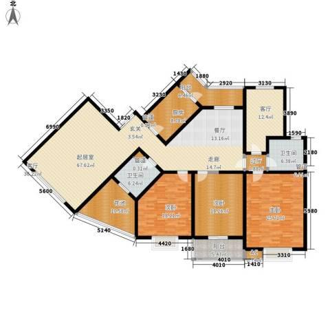 新友合康城3室1厅2卫1厨213.00㎡户型图