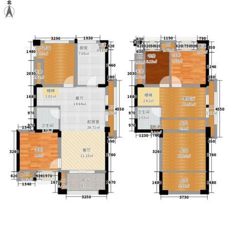 泰禾红树林3室0厅2卫1厨136.00㎡户型图