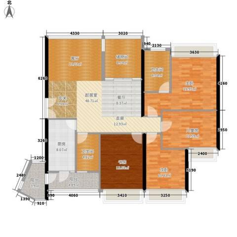 中海蓝湾4室0厅2卫1厨145.00㎡户型图