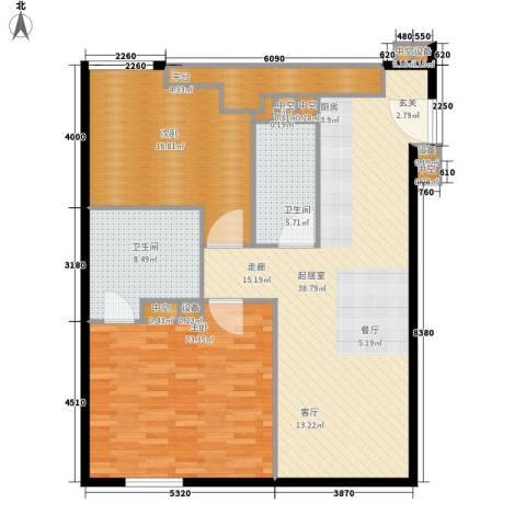 环球188公寓2室0厅2卫0厨110.00㎡户型图