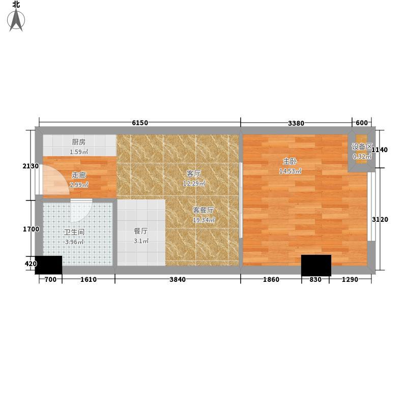 西子花苑54.00㎡精装CI面积5400m户型