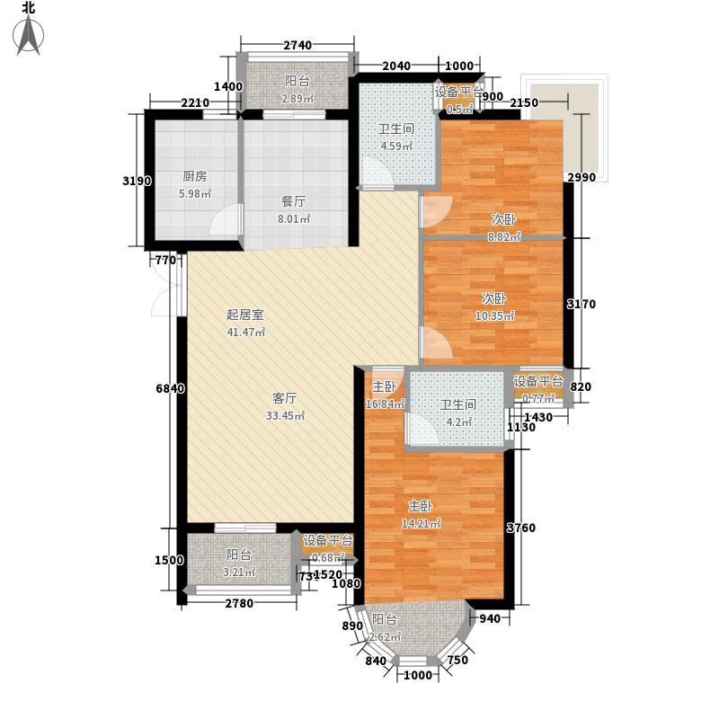 同方瞰和平138.80㎡2号楼标准层0面积13880m户型