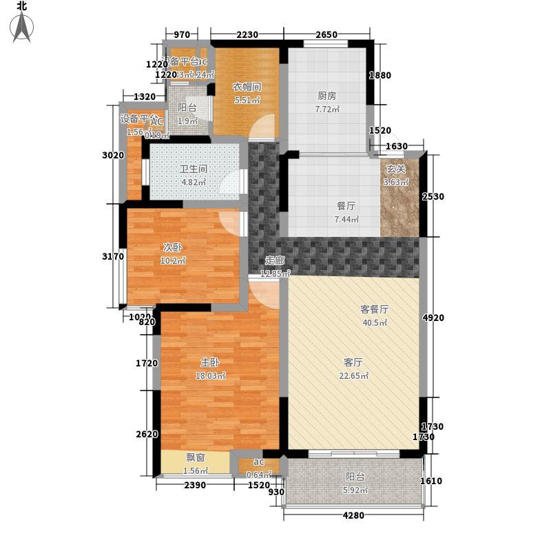 启迪·清枫华景110.00㎡D户型3室2厅