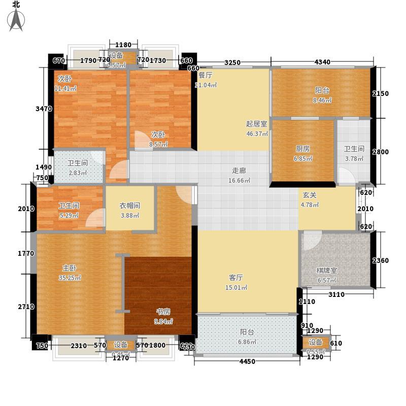 嘉和城134.00㎡塞纳左岸C11户型5室2厅