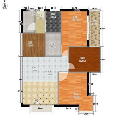 大话南门项目3室0厅2卫1厨134.00㎡户型图