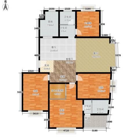 水云间蓝湾4室1厅3卫1厨160.00㎡户型图