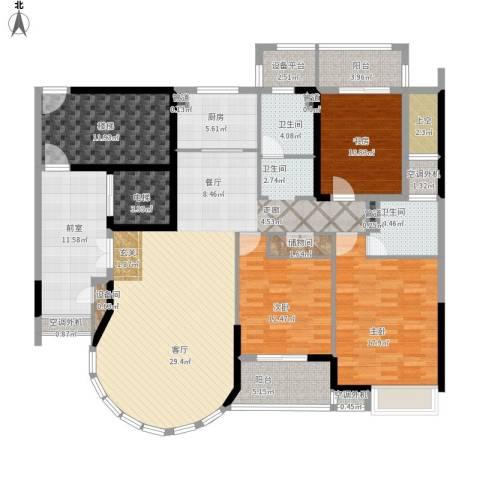 瑞宏・阳光水岸3室1厅2卫1厨213.00㎡户型图