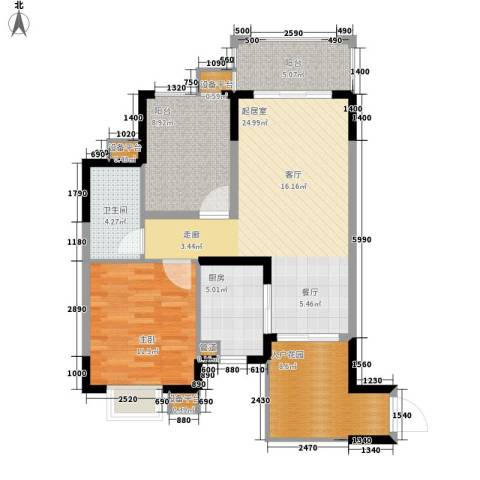 龙光・阳光海岸1室0厅1卫1厨101.00㎡户型图