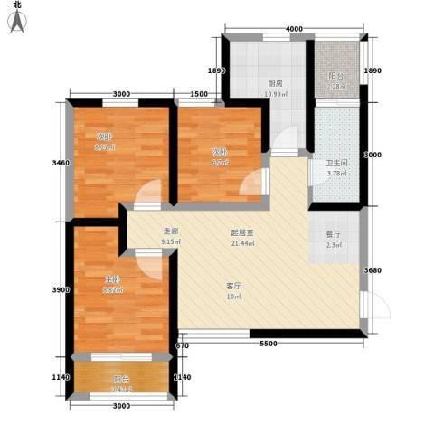 中谋壹品公馆3室0厅0卫1厨87.00㎡户型图
