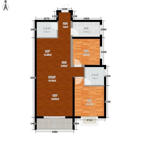 欧罗巴小镇2室1厅2卫1厨113.00㎡户型图