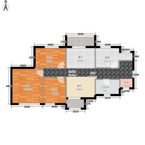 御景花园3室0厅1卫1厨94.00㎡户型图