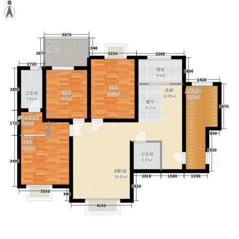 北岸3室0厅2卫1厨120.00㎡户型图