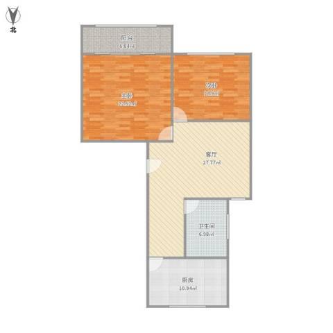 平南一村2室1厅1卫1厨120.00㎡户型图
