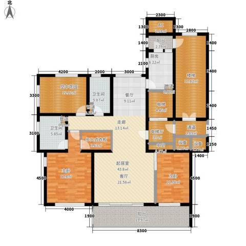 君熙太和2室0厅2卫1厨229.00㎡户型图