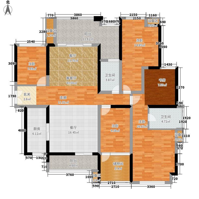保利上城168.00㎡户型5室2厅