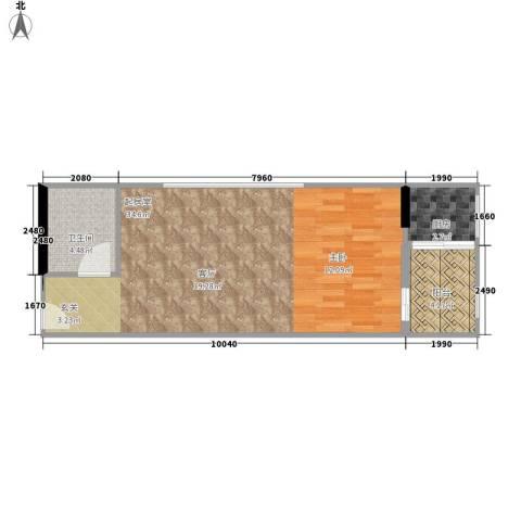 大话南门项目1卫1厨61.00㎡户型图