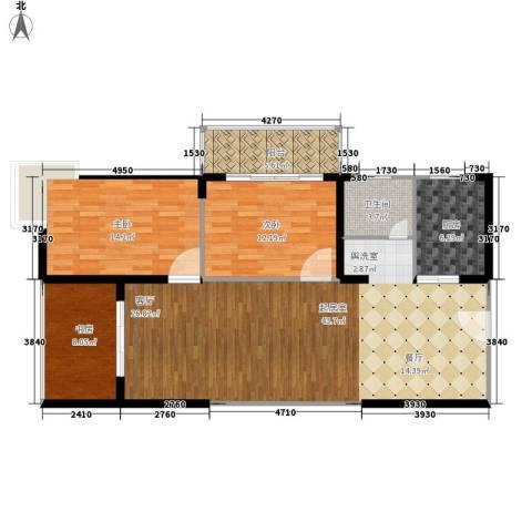 大话南门项目3室0厅1卫1厨103.00㎡户型图