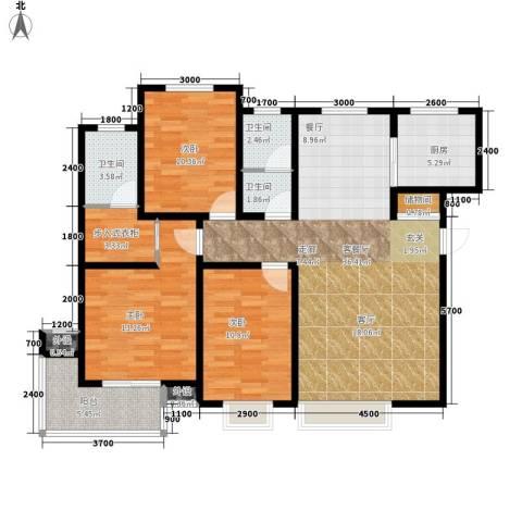 藏龙福地3室1厅3卫1厨143.00㎡户型图