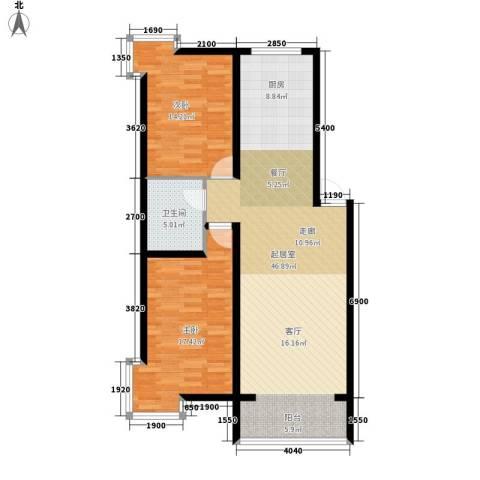 西城首府2室0厅1卫0厨117.00㎡户型图