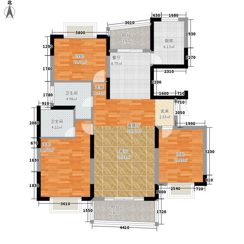 西子花苑134.00㎡C面积13400m户型
