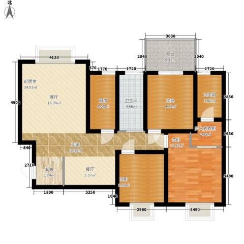北岸3室0厅2卫1厨112.00㎡户型图