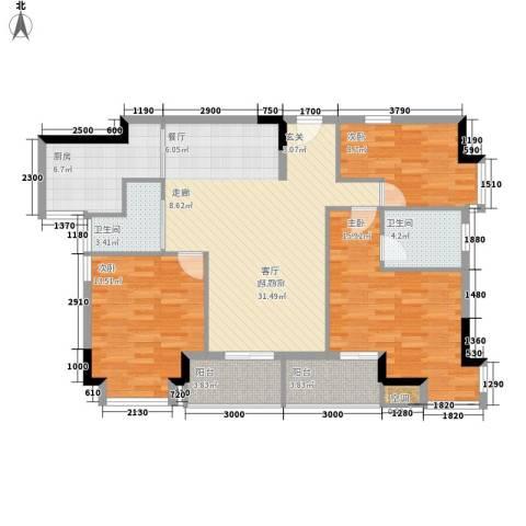 誉轩3室0厅2卫1厨130.00㎡户型图