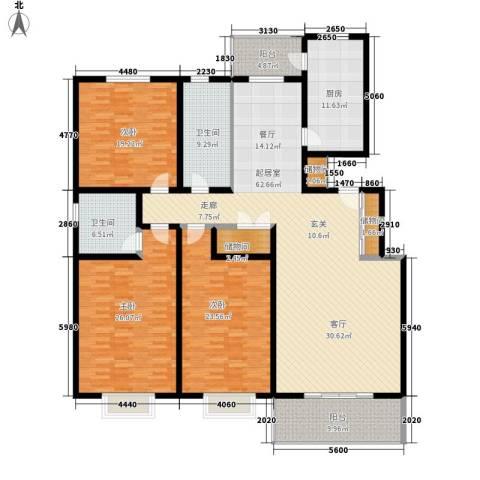 希格玛大厦3室0厅2卫1厨201.00㎡户型图