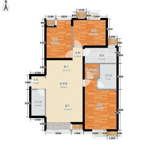 都市邻里3室0厅2卫1厨135.00㎡户型图