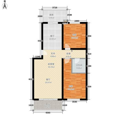 都市邻里2室0厅1卫1厨99.00㎡户型图