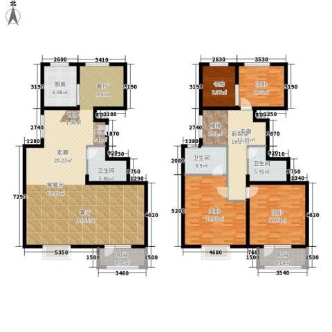 中铁四季公馆4室1厅3卫1厨172.29㎡户型图