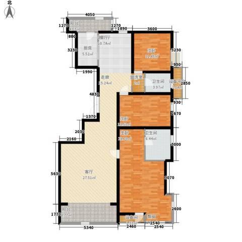 华城领秀3室1厅2卫1厨185.00㎡户型图