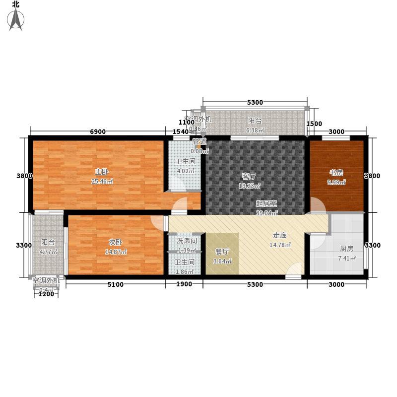 上东三角洲5.60㎡567号楼GG反面积15274m户型